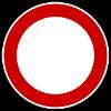 Zeichen 250 - Durchfahrtverbot (groß)